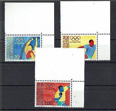 """schöner Eckrandsatz Liechtenstein """" Olympiade 1984 """" Mich. Nr. 846/48**"""