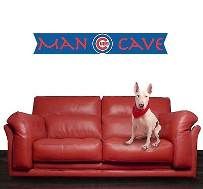 Chicago Cubs Decal MLB Logo Vinyl Sport Baseball Man Cave Home Wall Decor - Baseball Wall Decor