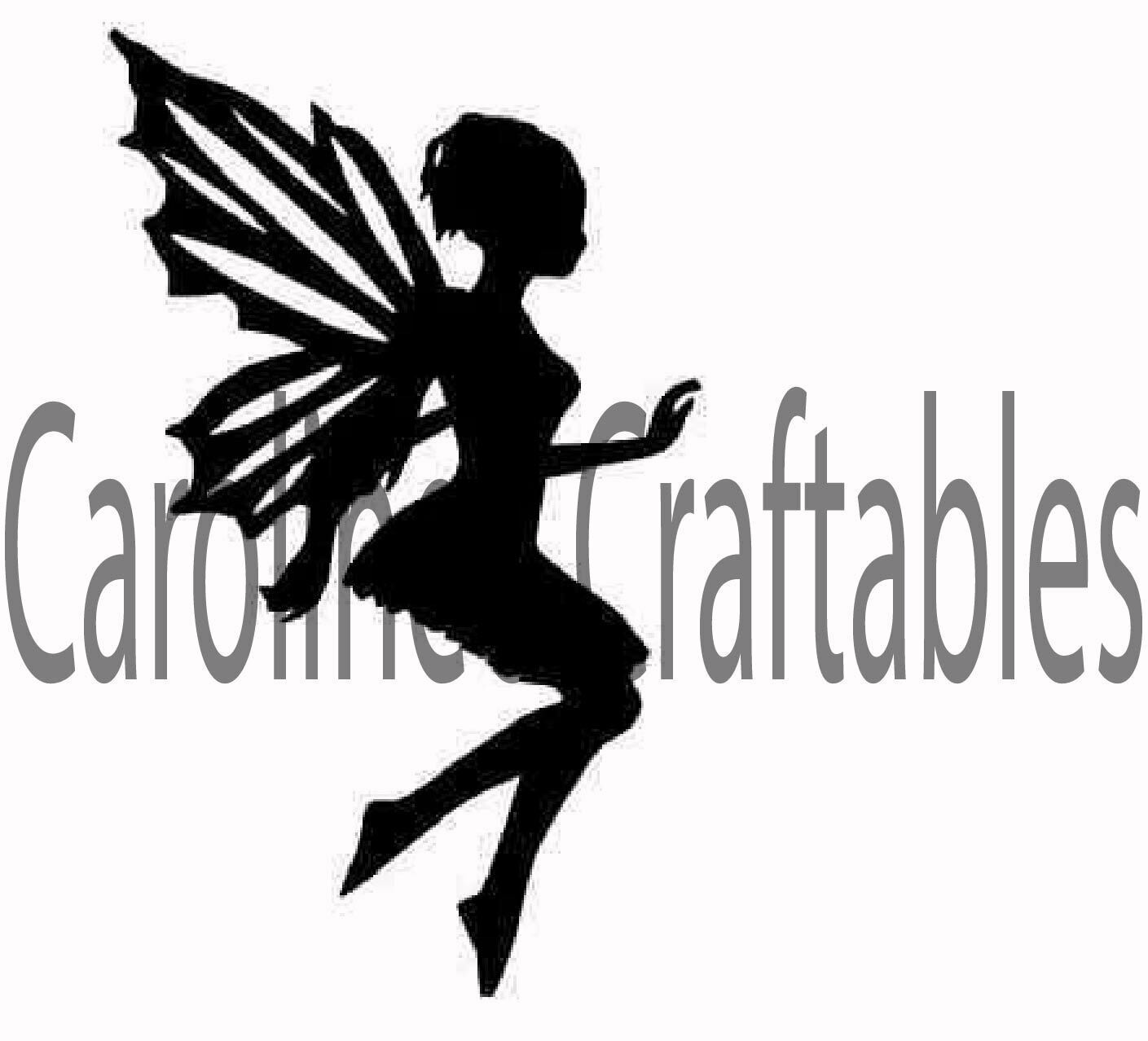 Fairy Silhouette  SVG/PNG cutting files. Ideal for Fairy Jars and box frames