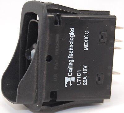 Rocker Switch Carling Tech L71d1gnhe Double Pole Progressive Circuit On-on