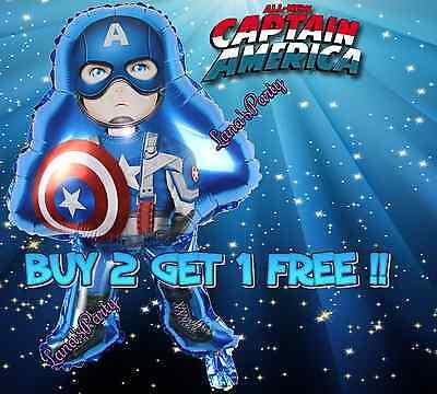 A Avengers Captain America Birthday Boy Balloon Foil Balloon](Captain America Birthday)