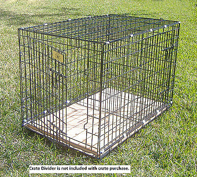 "Large Folding Dog Crate - (L36"" x W23"" x H26) Free Crate Pad - FREE SHIPPING"
