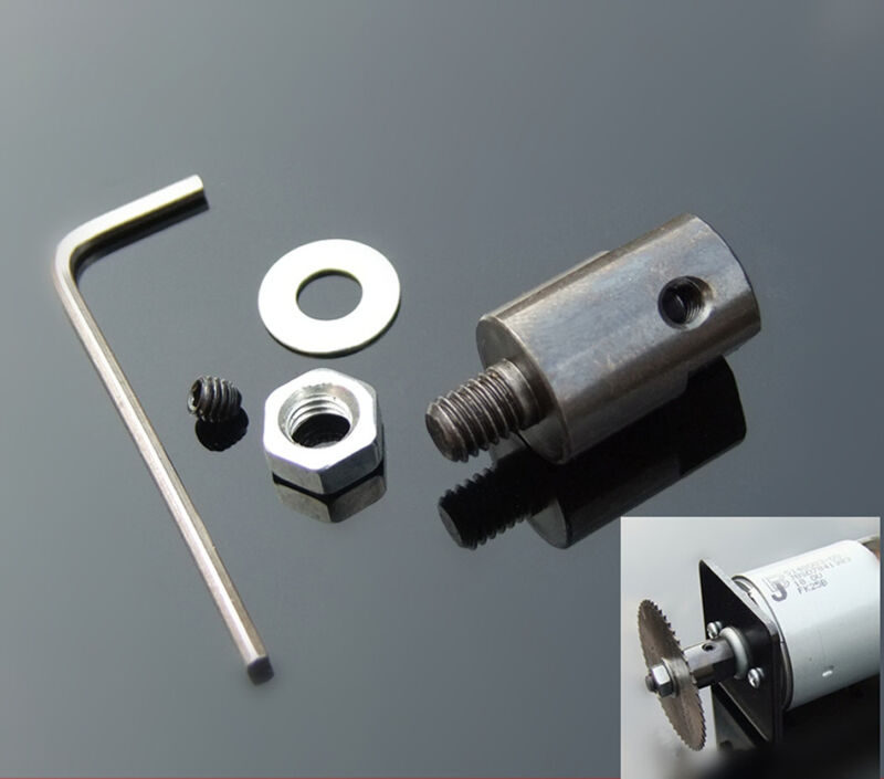 3.17/4/5/6/8mm Motor Shaft Coupler Sleeve Saw Blade Coupling Saw Chuck Adapter