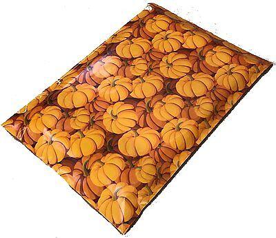 200 10x13 Orange Pumpkins Designer Mailers Poly Shipping Envelopes Boutique Bags