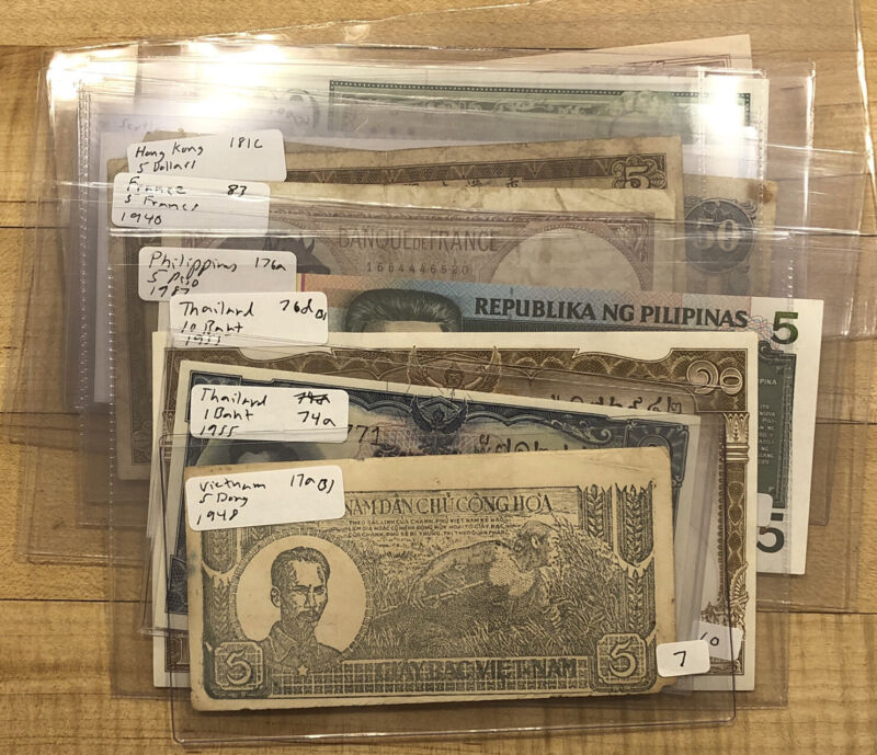 Wholesale Resale Banknote Lot Dealer Ready for Retail Currency World Notes