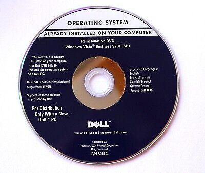 Reinstallation DVD Microsoft Windows Vista Business 32Bit Dell integrierter Key Dell Windows Vista