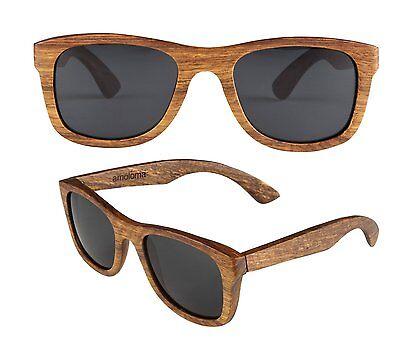 amoloma Wood sunglasses pear wood Frame eyewear  unisex (Wood Frame Wayfarer Sunglasses)