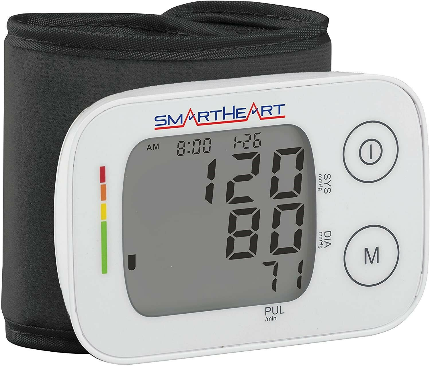 SMART HEART BLOOD PRESSURE MONITOR WITH ADULT WRIST CUFF AUT