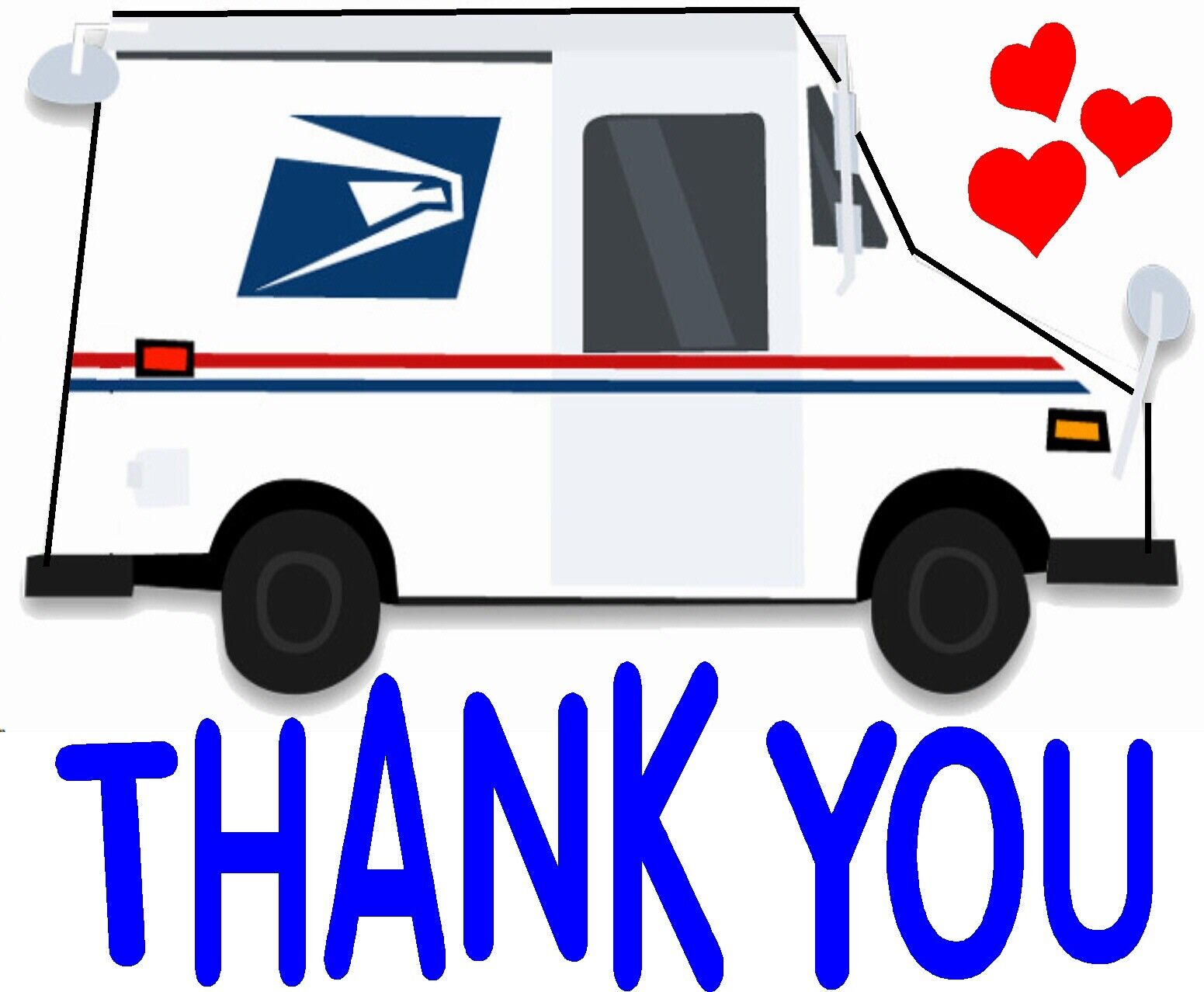 Home Decoration - Mail Box Thank You Mailbox Decal Waterproof Sticker Vinyl Car Decal