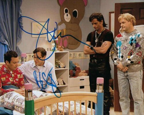 GFA Full House * BOB SAGET & JOHN STAMOS * Cast Signed 8x10 Photo PROOF F6 COA