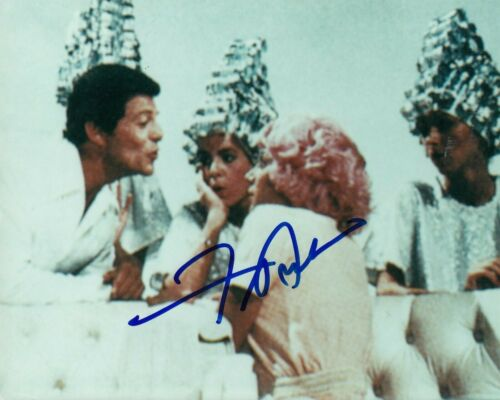 FRANKIE AVALON signed (GREASE) Movie 8X10 photo *Beauty School Dropout* W/COA #7