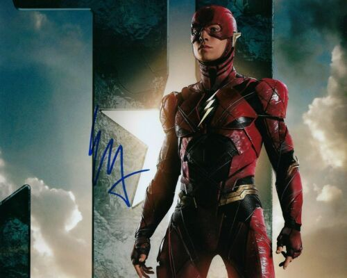 GFA Justice League The Flash * EZRA MILLER * Signed 8x10 Photo PROOF E6 COA