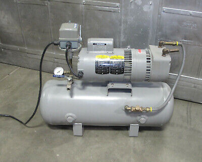 Welch Gardner Denver Model 8170b-30 Vacuum Pump Baldor Motor Tank