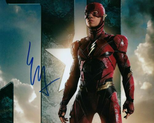 GFA Justice League The Flash * EZRA MILLER * Signed 8x10 Photo PROOF E2 COA