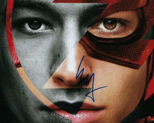 GFA Justice League The Flash * EZRA MILLER * Signed 8x10 Photo PROOF E4 COA
