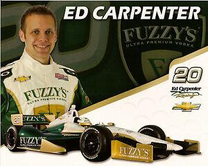 2012-ED-CARPENTER-INDIANAPOLIS-500-PHOTO-CARD-POSTCARD-IZOD-INDY-CAR-FUZZYS