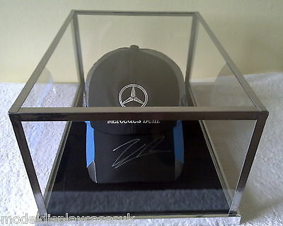 SIGNED BASEBALL CAP FORMULA 1 or FOOTBALL CAP - GLASS DISPLAY CASE ONLY
