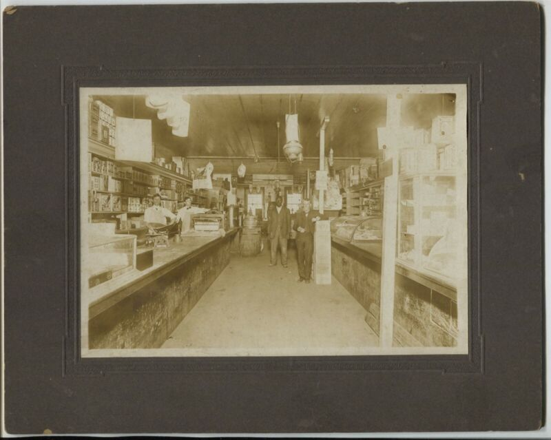 1910 era Washington Georgia Cabinet Photo Store Interior African American man
