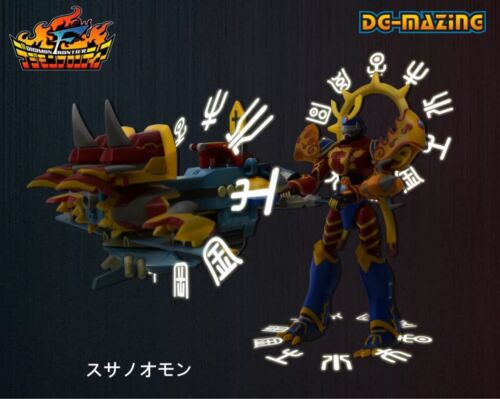 Digital Monster Susanoomon Kaiser Greymon Magna Garurumon Assembled Figure