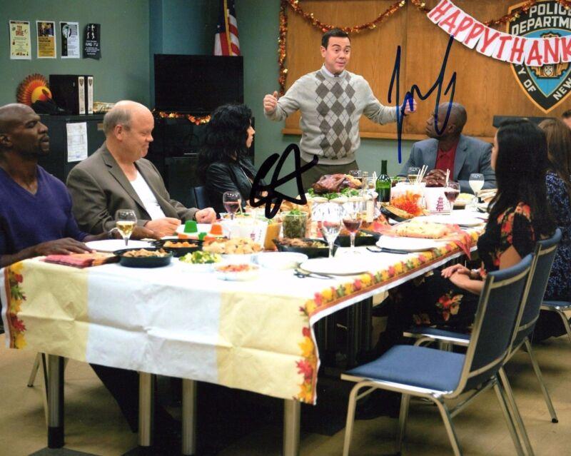 Brooklyn Nine-Nine * STEPHANIE BEATRIZ & JOE LO TRUGLIO * Signed 8x10 Photo COA