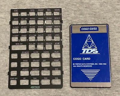 Tds Cogo Survey Card For Hp 48gx Calculators
