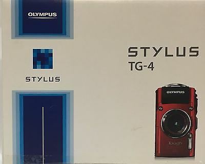 Olympus Stylus Tough TG-4 16.0MP Waterproof Camera (Red)