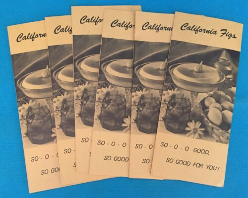 CALIFORNIA FIGS , VINTAGE RECIPE PAMPHLET HANDOUTS - TOTAL OF (6)