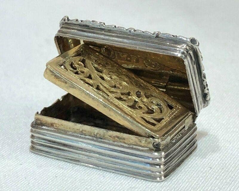 c. 1833 Antique Sterling Silver Vinaigrette William Phillips Birmingham England