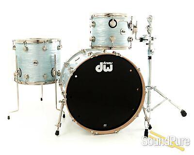 DW 3pc Collectors Series Maple Drum Set - Pale Blue Oyster