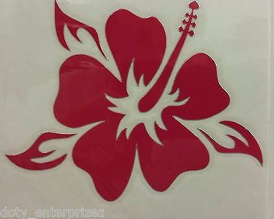 Inbloom Stickers (INBLOOM VINYL STICKER Red Hibiscus Flower DECAL CAR WINDOW HOME ~ free)