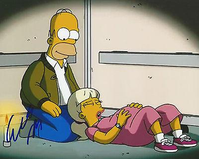 Gfa The Simpsons  Elisabeth Moss  Signed 8X10 Photo Mh1 Coa