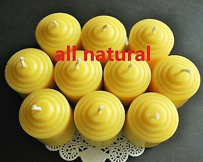 Soy Wax Votive - 10 Votive Beeswax Soy wax Candles natural Aromatheraphy SPA quality handmade