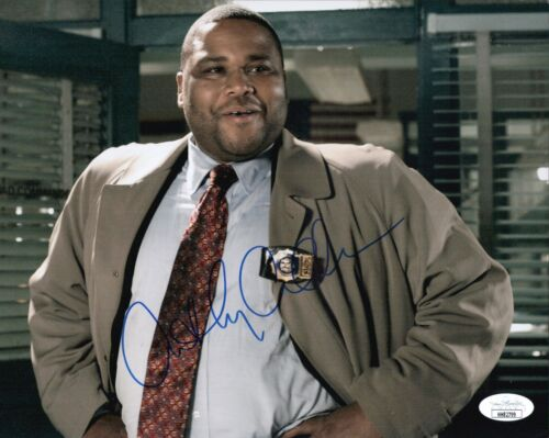 ANTHONY ANDERSON Signed 8x10 Photo LAW & ORDER In Person Autograph JSA COA Cert