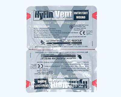 NAR Hyfin Chest Seal Twin Pack (North American Rescue) Expirations 2022 & 2023