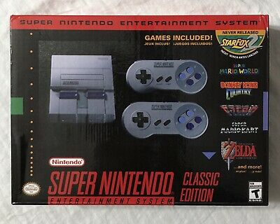 Super Nintendo Entertainment System Classic SNES Mini Edition 21 Games NEW