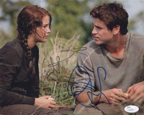 Jennifer Lawrence Liam Hemsworth  Autographed Signed 8x10 Photo JSA COA