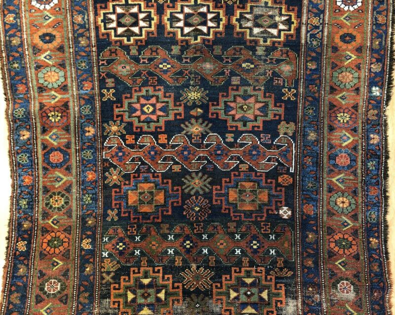Tremendous Tribal - 1900s Antique Kurdish Rug - Oriental Carpet - 4.5 X 7.10 Ft.