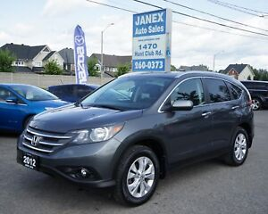 2012 Honda CR-V Touring AWD | BLACK LEATHER INTR | SUNROOF |...