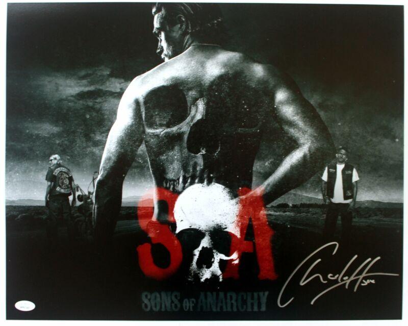 Charlie Hunnam Autograph 16x20 Photo Sons of Anarchy Signed JSA COA Z1