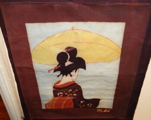 MALAYLSIAN WOMAN ORIGINAL BATIK PAINTING SIGNED MAKI