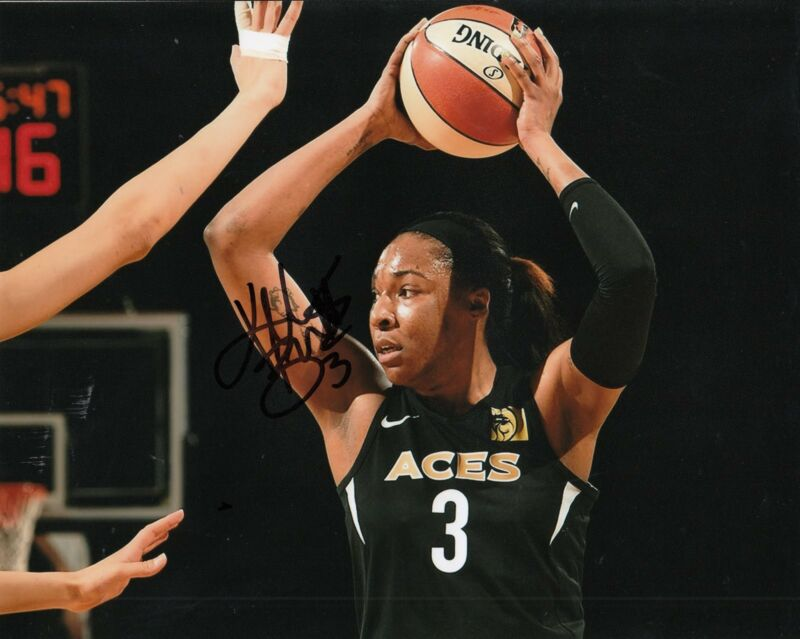 KELSEY BONE signed (LAS VEGAS ACES) WNBA *SAN ANTONIO STARS*  8X10 W/COA