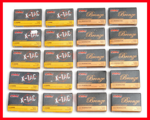 """20 - 5.56 / 223 Ammo / Cartridge Boxes -With TUCK-IN LIDS .223-"""""""