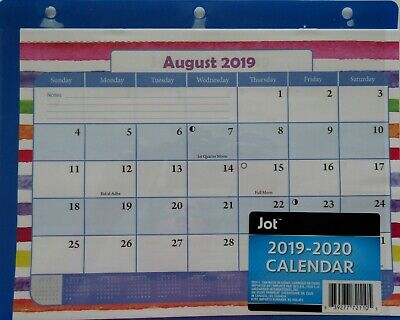 New 2019 2020 Student Notebook Binder Monthly Planner Agenda School Blue