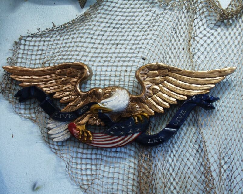Eagle Transom Carving Patriotic Colonial Nautical Decor