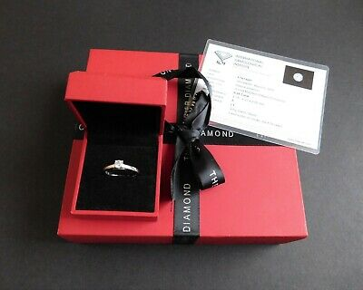 A Forever 9ct Gold Diamond Engagement Ring with Certificate - Size N