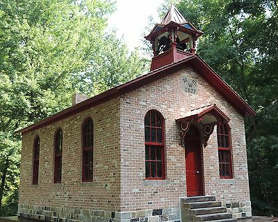 dollhouse artisan brick schoolhouse handmade 1/12 scale