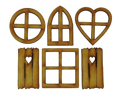 Fairy Windows - 6 Piece Mixed Pack of Wooden Fairy Windows, includes Shutters! for sale  Shipping to South Africa