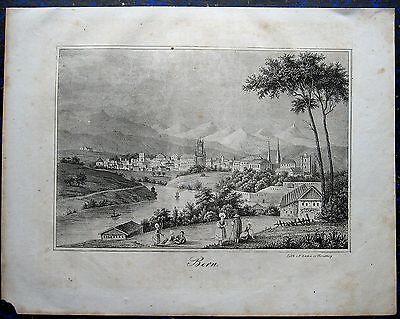 BERN, Schweiz. Originale Lithographie von SACHSE, 1835