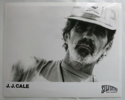 "J. J. CALE (1989) - Old Gloss Black & White Promo Photo 10"" x 8"" Folk Rock/Blues"