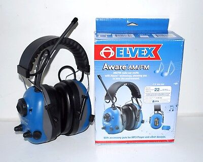 Aware Am Fm Radio Earmuffs With Voice Speech Pick-up Microphone